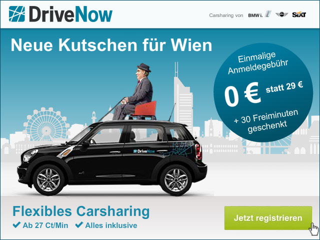 DriveNow Wien Gutschein