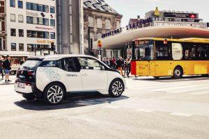 Mit dem BMW i3 bietet DriveNow in Kopenhagen, Berlin, Hamburg, M